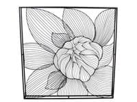 Orchis Black Blossom Wirework Metal Wall Art